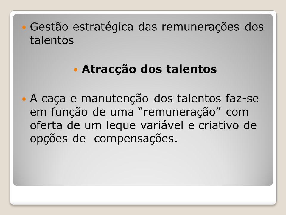 Gestão estratégica das remunerações dos talentos