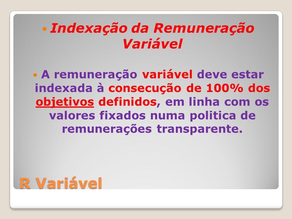 Indexação da Remuneração Variável