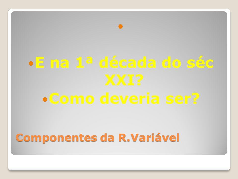 Componentes da R.Variável