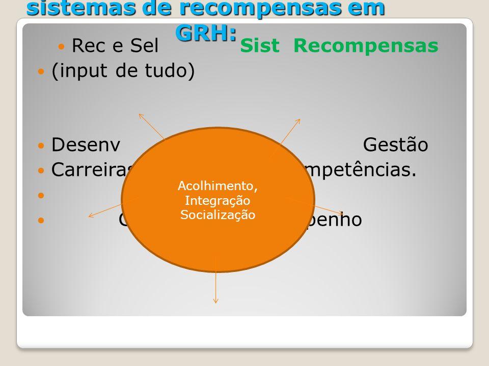 AIS- A relação entre o AIS e os sistemas de recompensas em GRH: