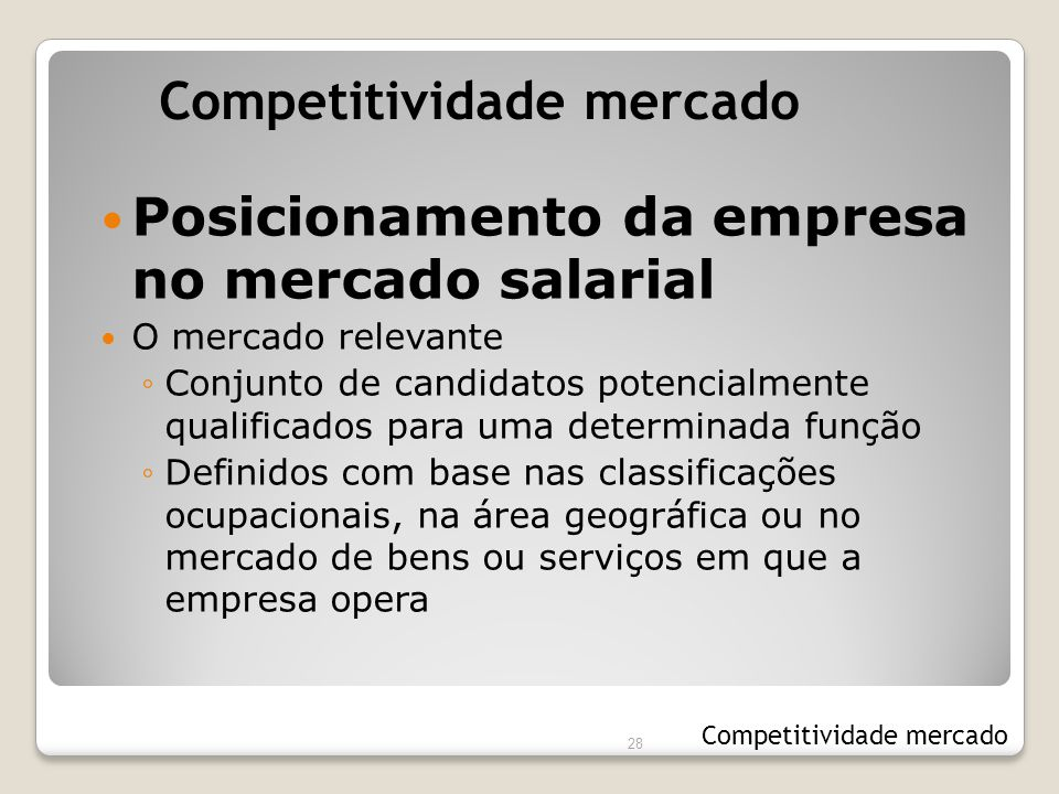 Competitividade mercado
