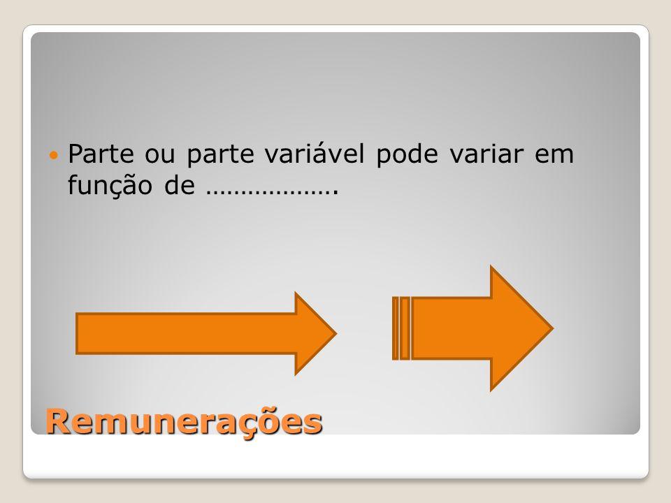 Parte ou parte variável pode variar em função de ……………….