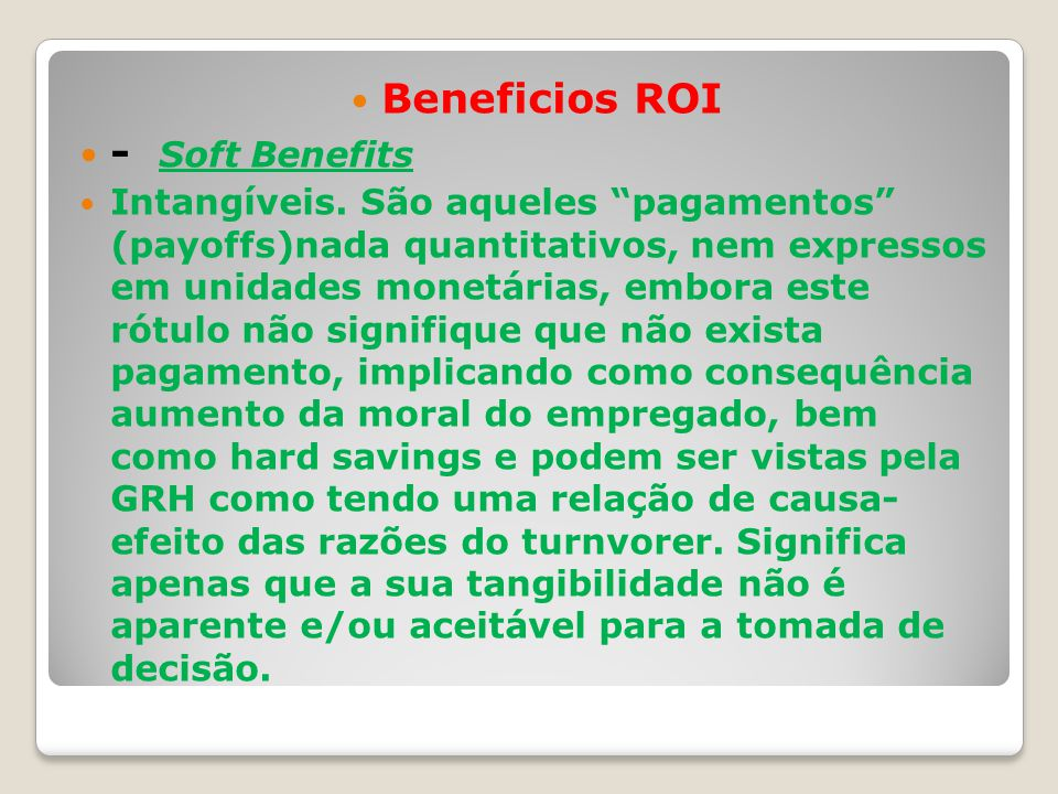 Beneficios ROI - Soft Benefits
