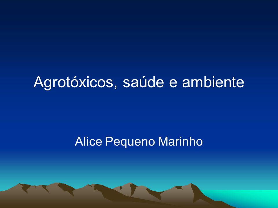 Agrotóxicos, saúde e ambiente