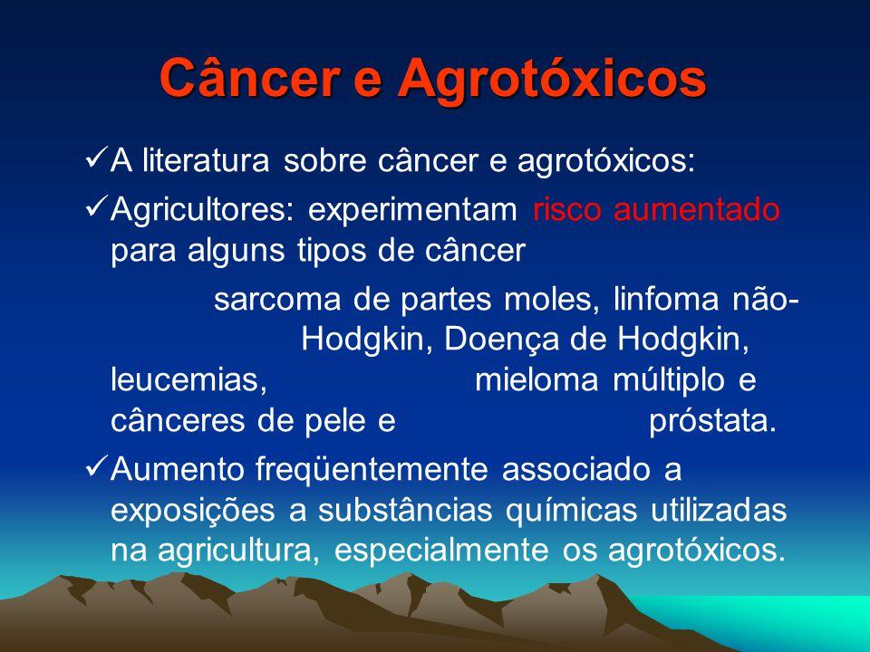 Câncer e Agrotóxicos A literatura sobre câncer e agrotóxicos:
