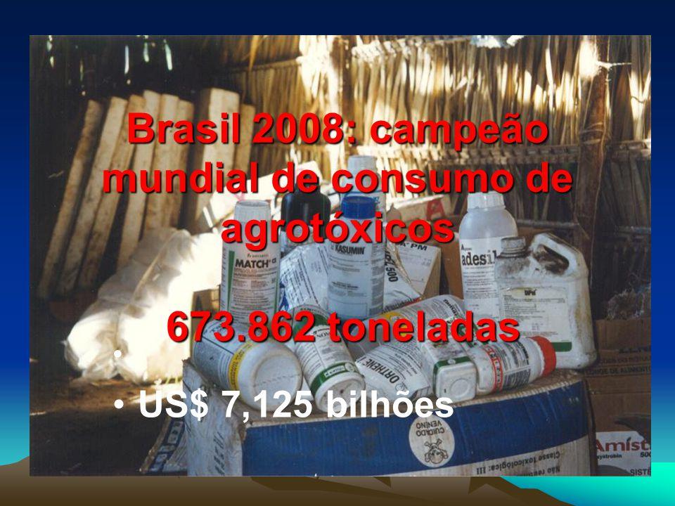 Brasil 2008: campeão mundial de consumo de agrotóxicos