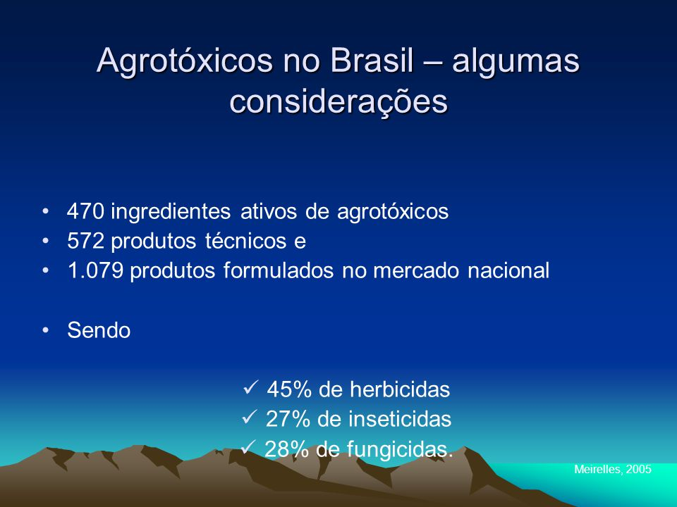 Agrotóxicos no Brasil – algumas considerações