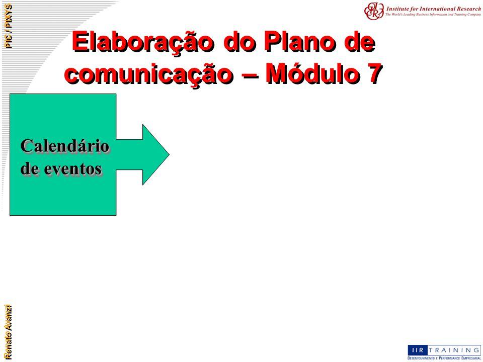 Elaboração do Plano de comunicação – Módulo 7