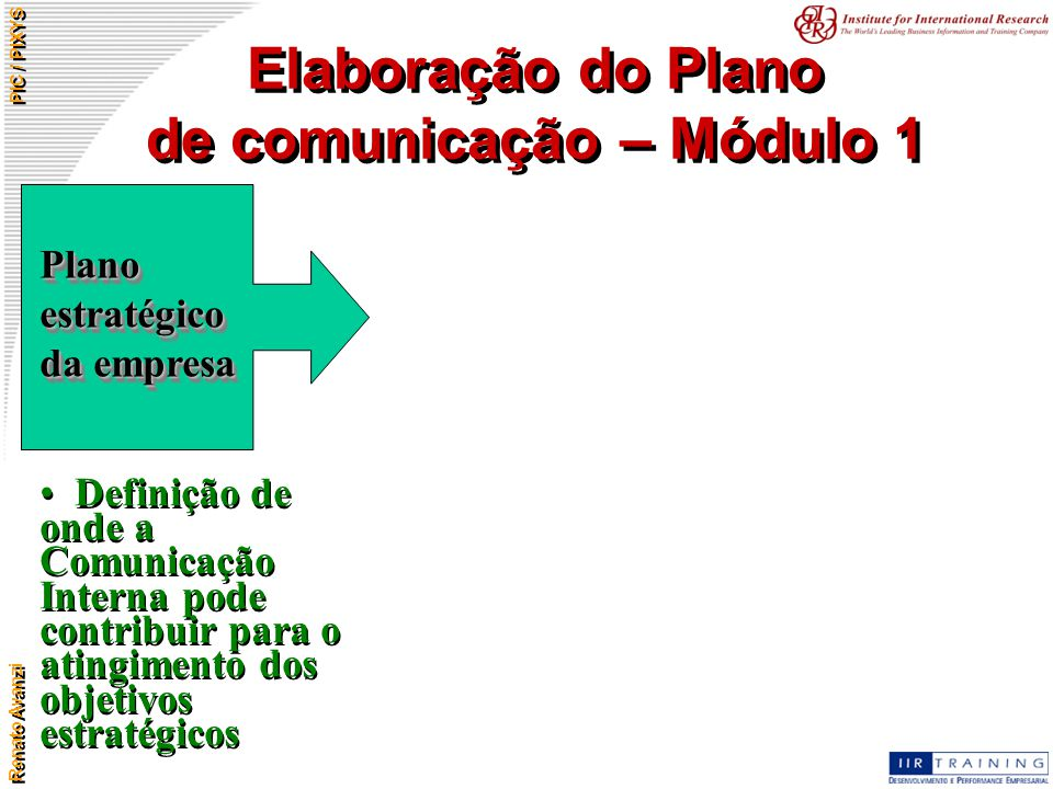 Elaboração do Plano de comunicação – Módulo 1