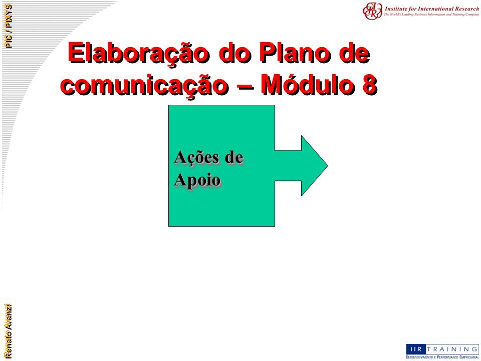 Elaboração do Plano de comunicação – Módulo 8