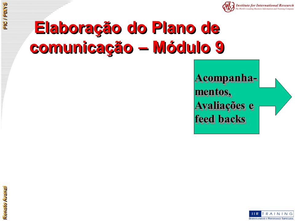 Elaboração do Plano de comunicação – Módulo 9