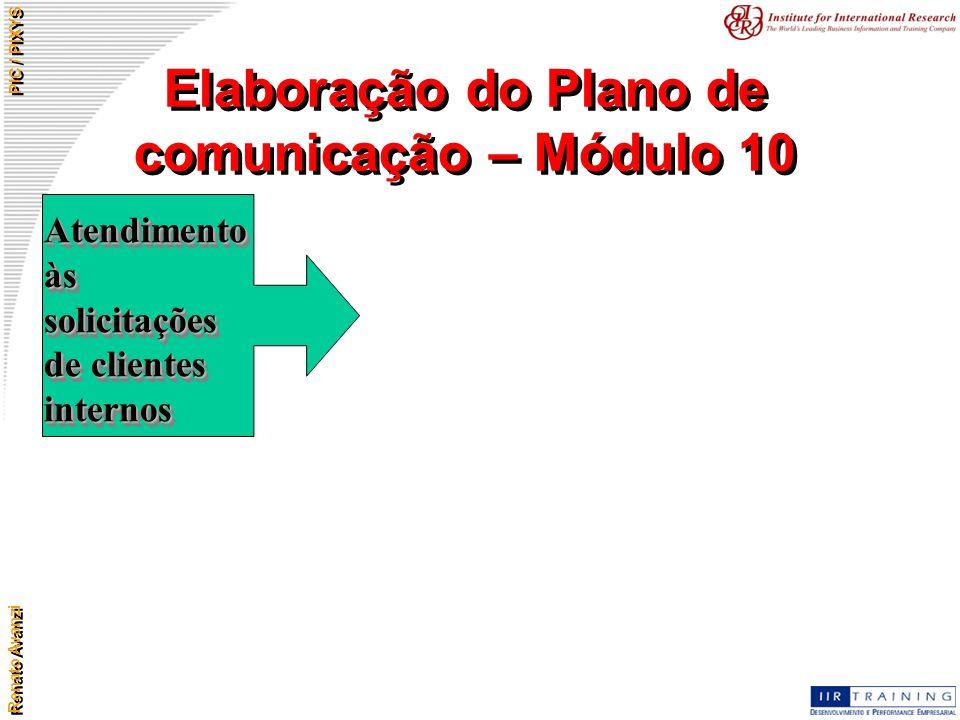 Elaboração do Plano de comunicação – Módulo 10