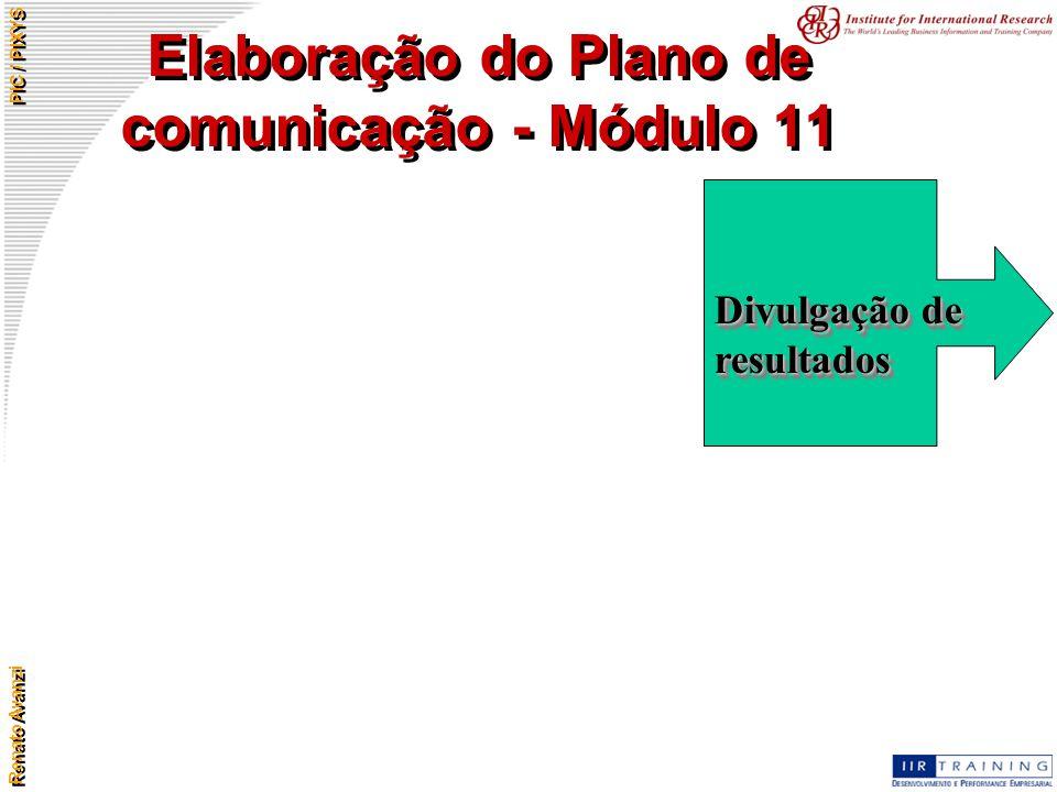 Elaboração do Plano de comunicação - Módulo 11