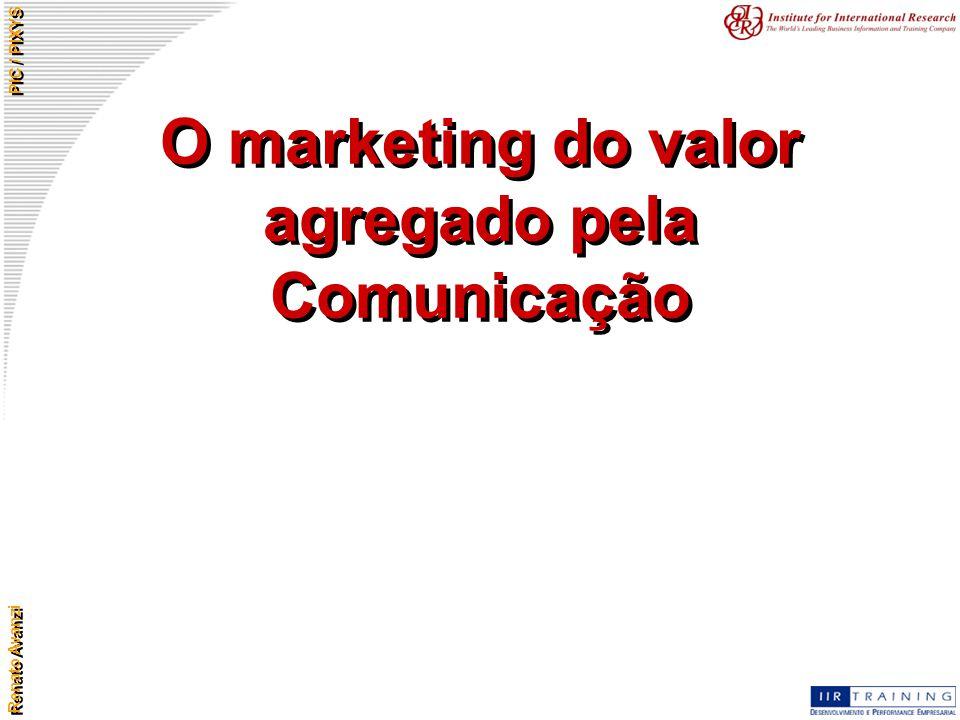 O marketing do valor agregado pela Comunicação