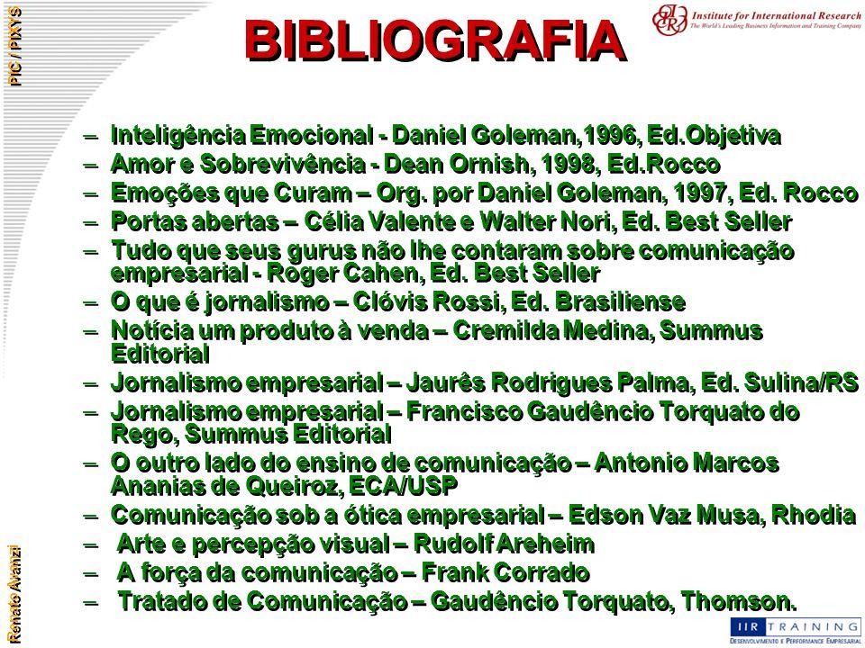 BIBLIOGRAFIA Inteligência Emocional - Daniel Goleman,1996, Ed.Objetiva
