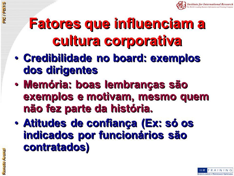 Fatores que influenciam a cultura corporativa