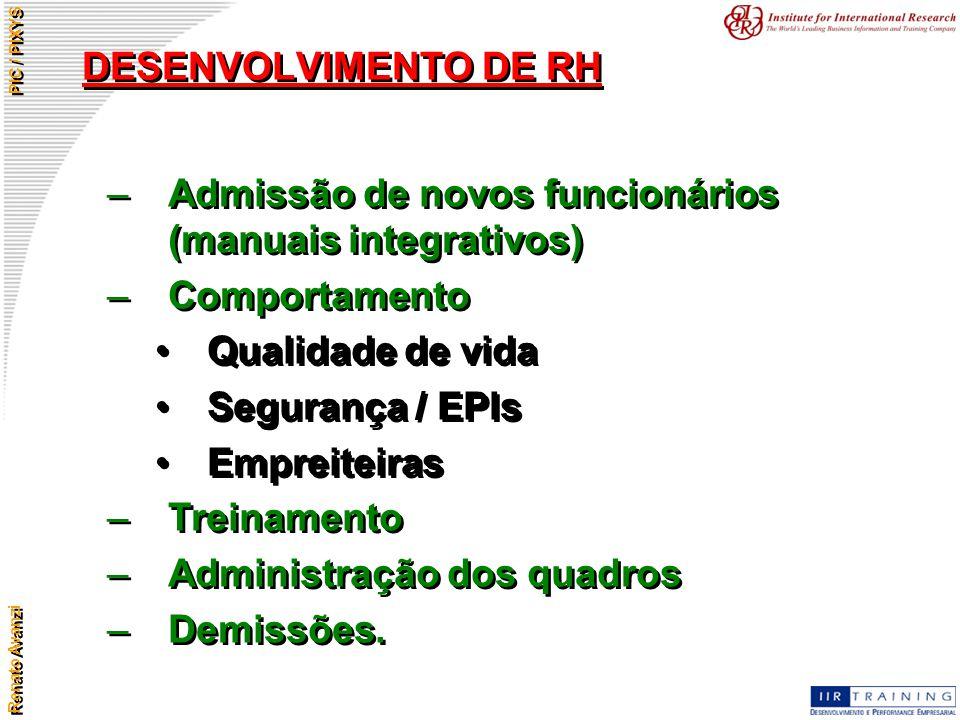 Admissão de novos funcionários (manuais integrativos) Comportamento