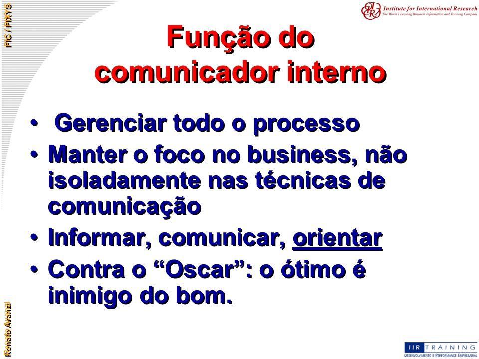 Função do comunicador interno