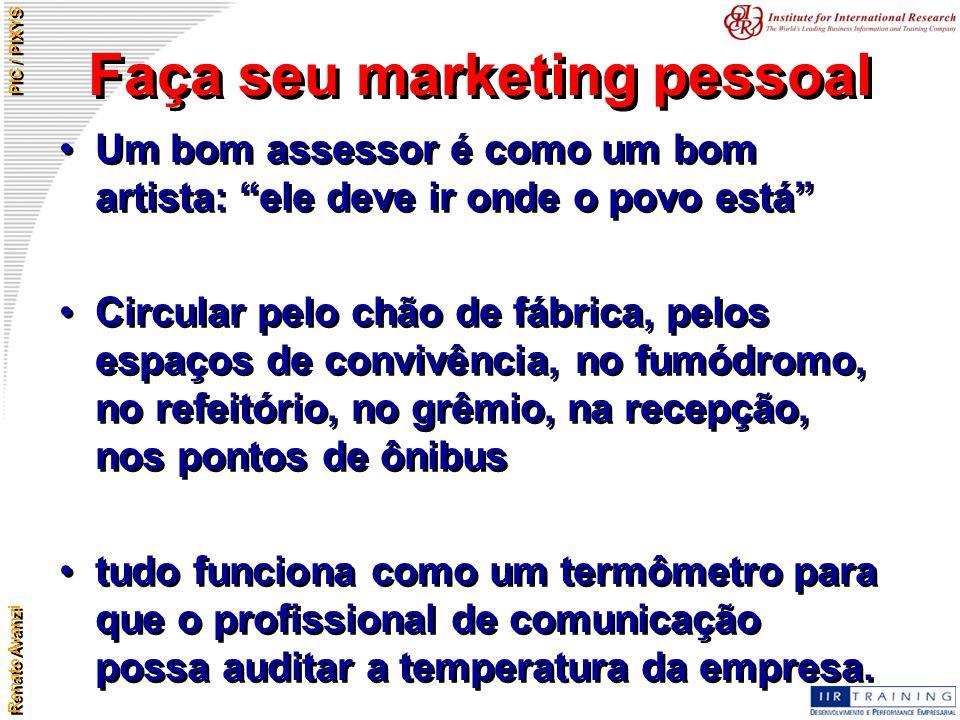 Faça seu marketing pessoal