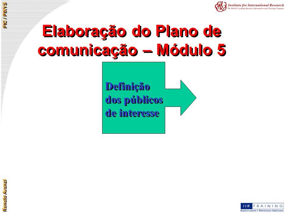 Elaboração do Plano de comunicação – Módulo 5