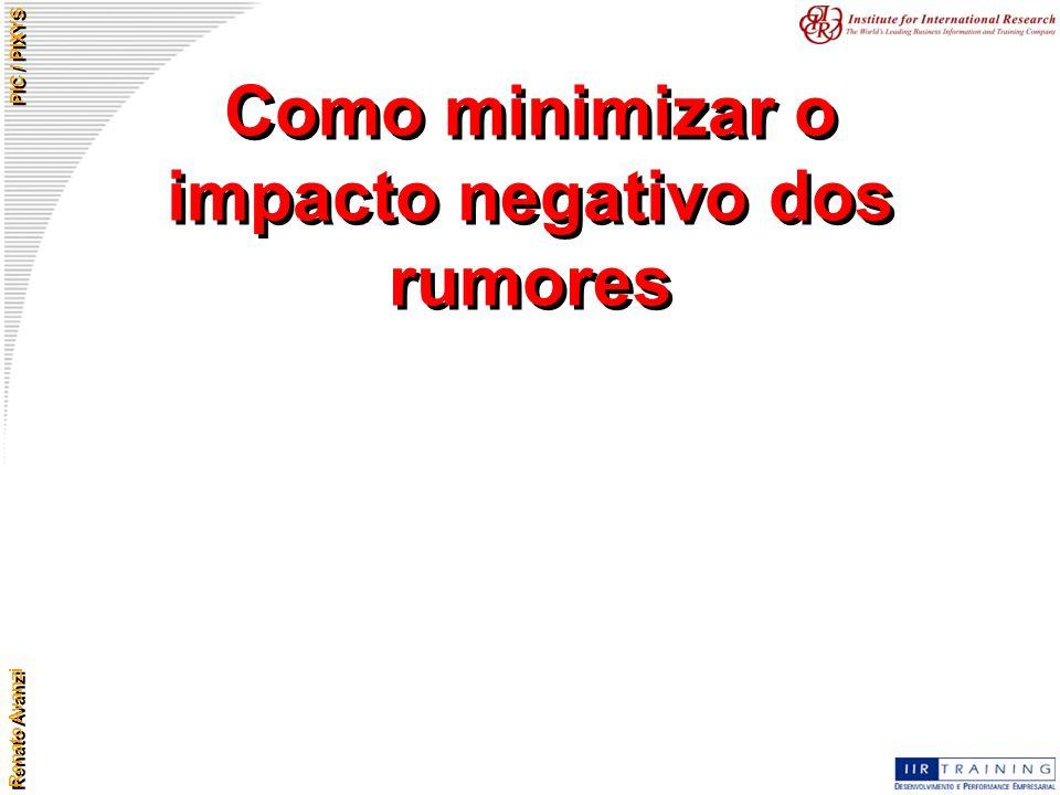 Como minimizar o impacto negativo dos rumores