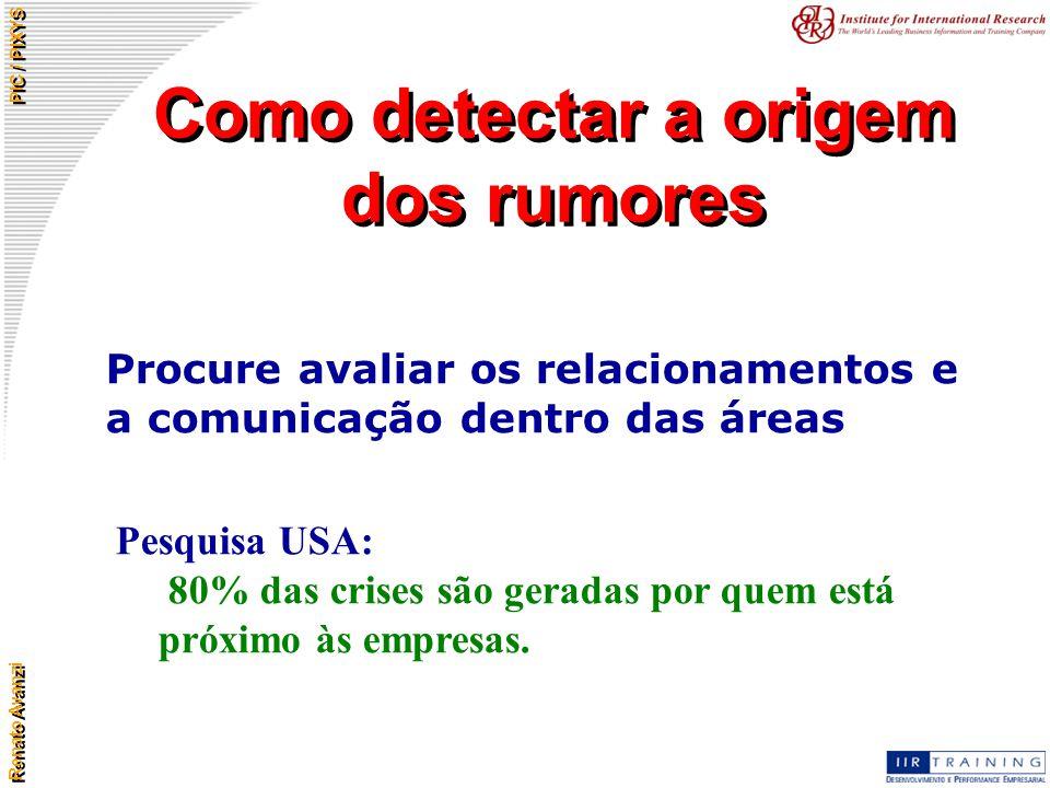 Como detectar a origem dos rumores
