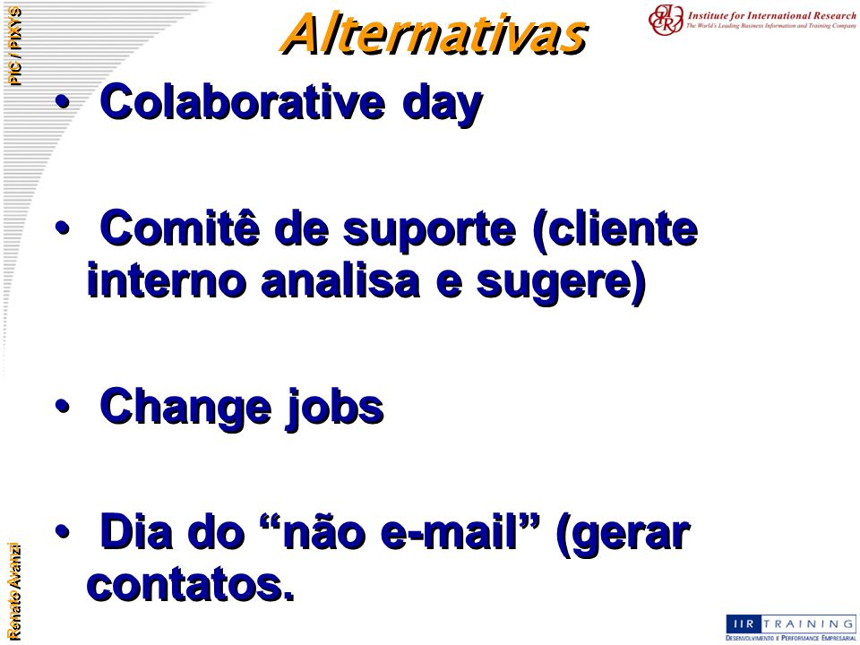 Alternativas Colaborative day