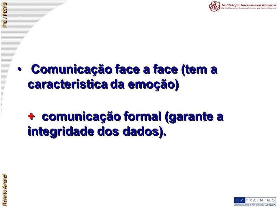Comunicação face a face (tem a característica da emoção)