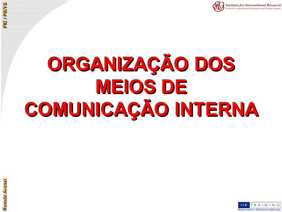 ORGANIZAÇÃO DOS MEIOS DE COMUNICAÇÃO INTERNA