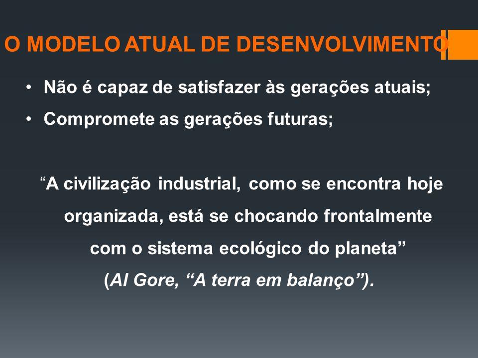 O MODELO ATUAL DE DESENVOLVIMENTO (Al Gore, A terra em balanço ).