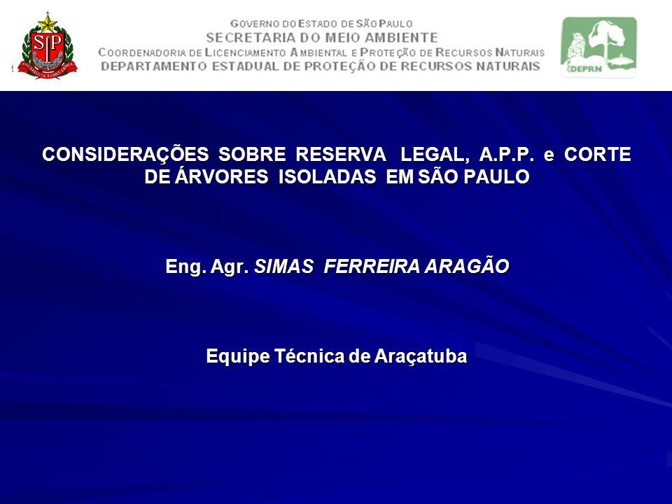 CONSIDERAÇÕES SOBRE RESERVA LEGAL, A. P. P