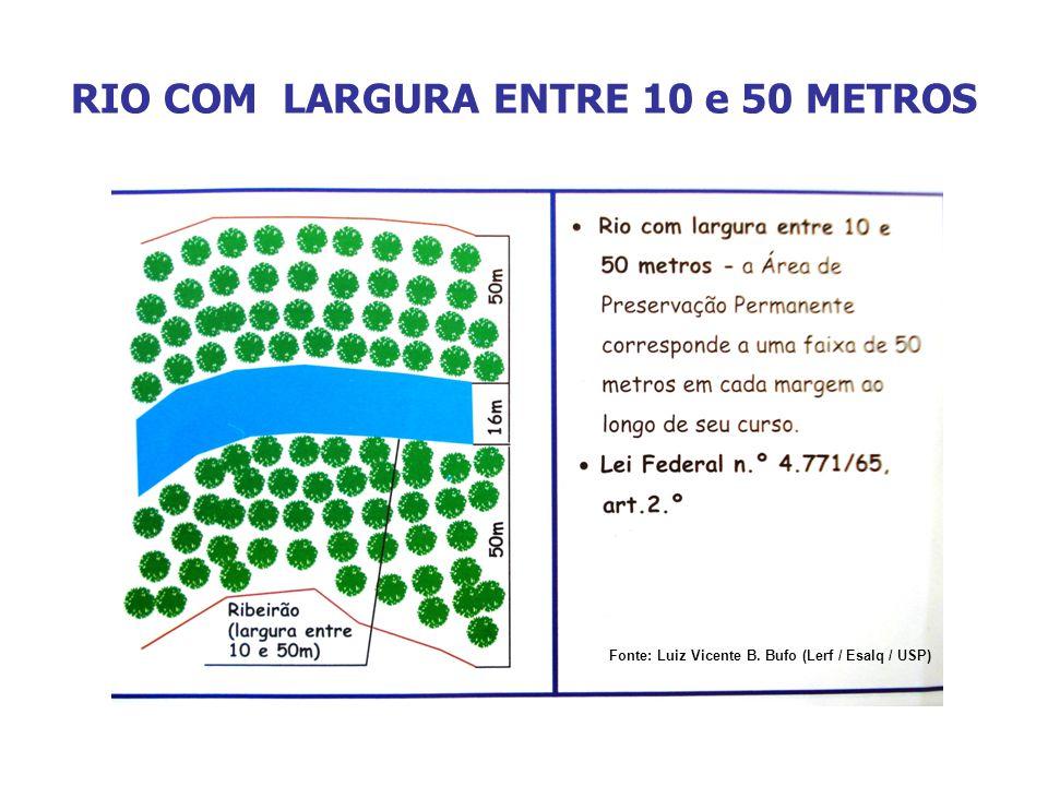 RIO COM LARGURA ENTRE 10 e 50 METROS