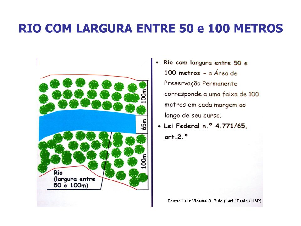RIO COM LARGURA ENTRE 50 e 100 METROS