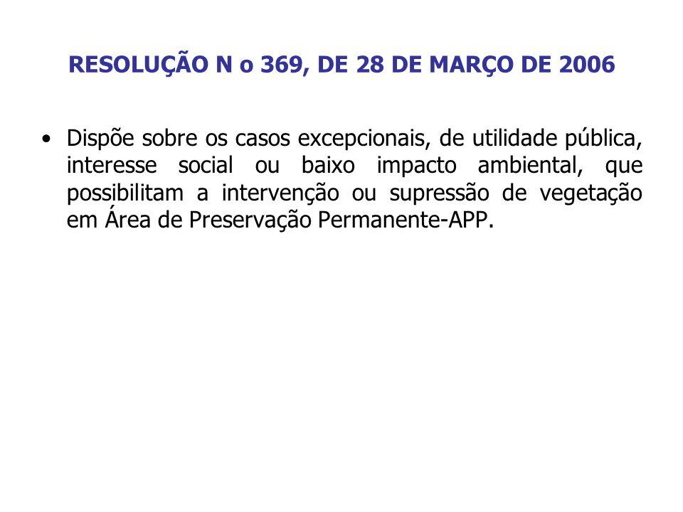 RESOLUÇÃO N o 369, DE 28 DE MARÇO DE 2006