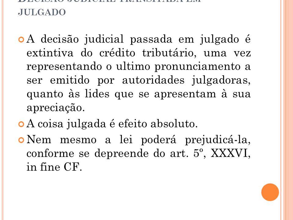 Decisão judicial transitada em julgado