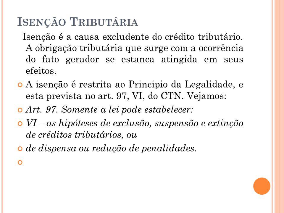 Isenção Tributária