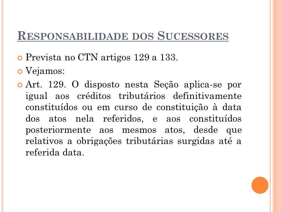 Responsabilidade dos Sucessores