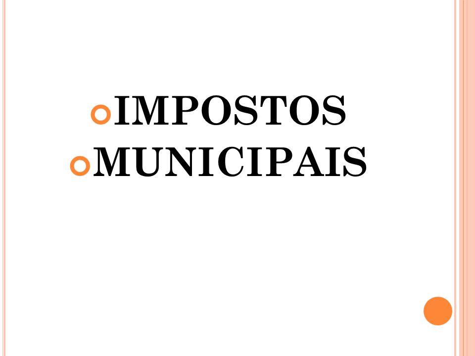 IMPOSTOS MUNICIPAIS