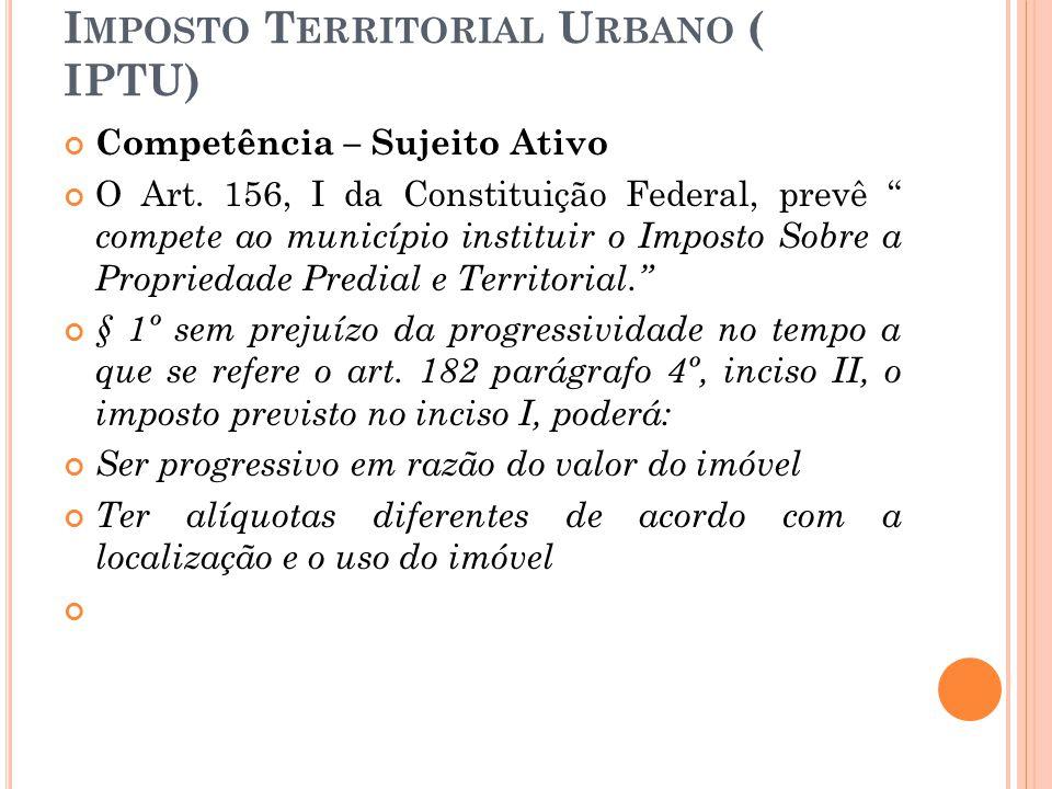 Imposto Territorial Urbano ( IPTU)
