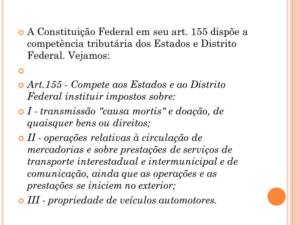A Constituição Federal em seu art