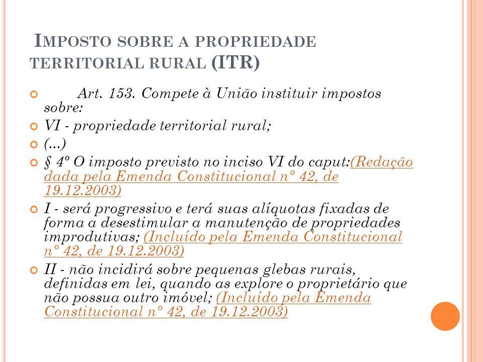 Imposto sobre a propriedade territorial rural (ITR)