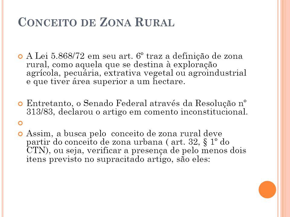 Conceito de Zona Rural