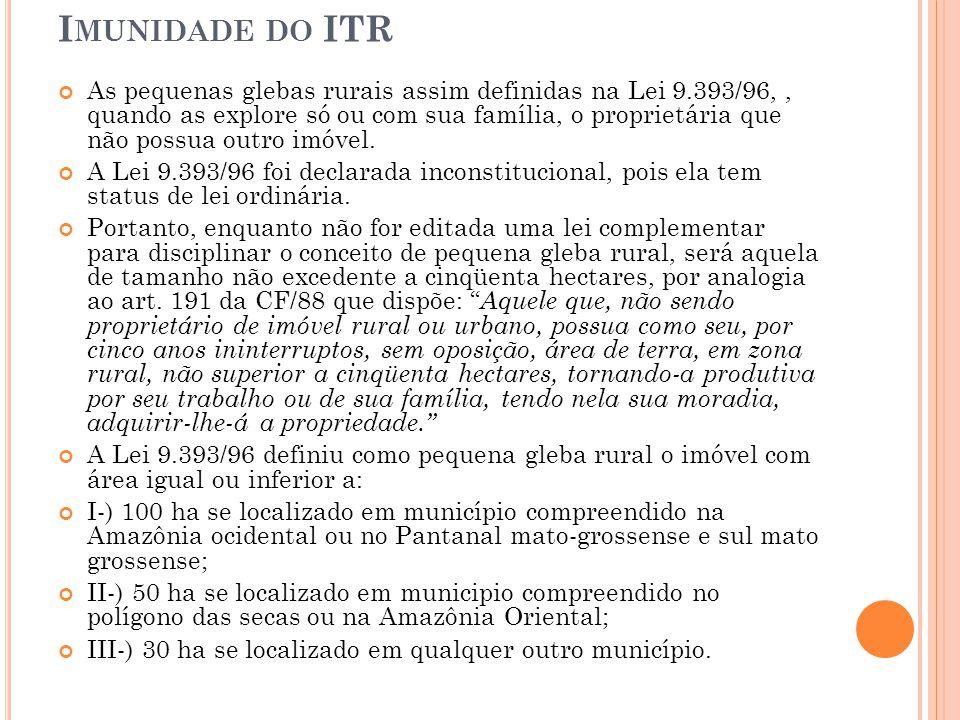 Imunidade do ITR