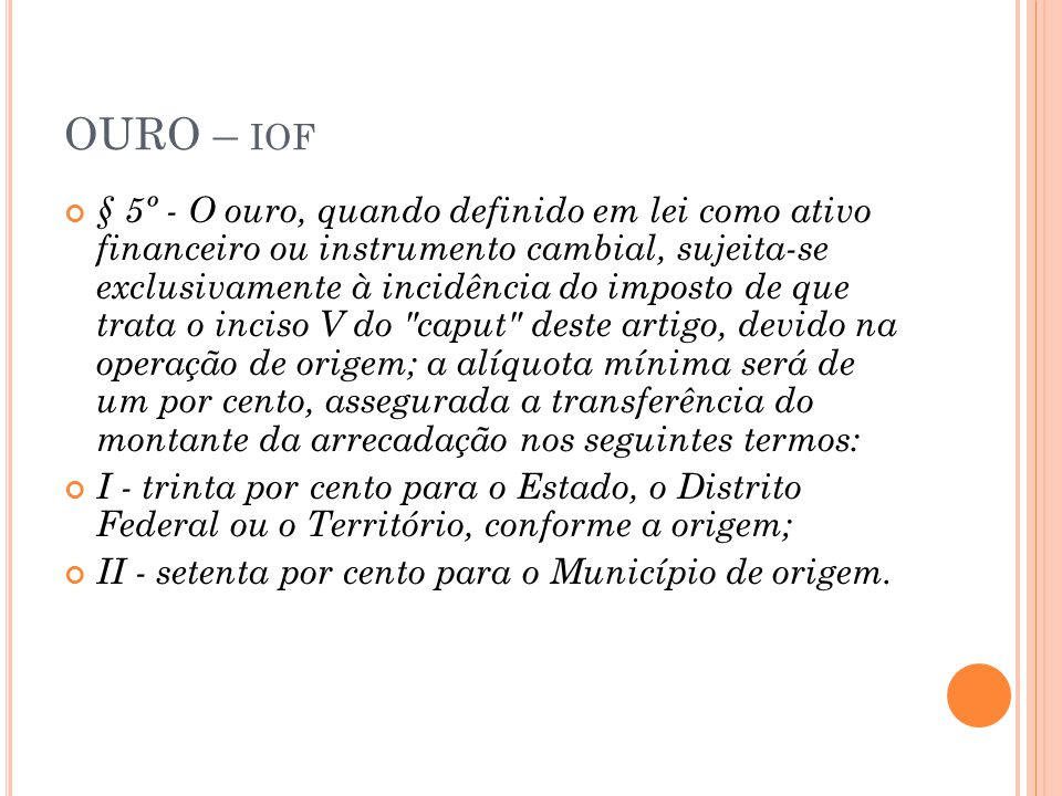OURO – iof