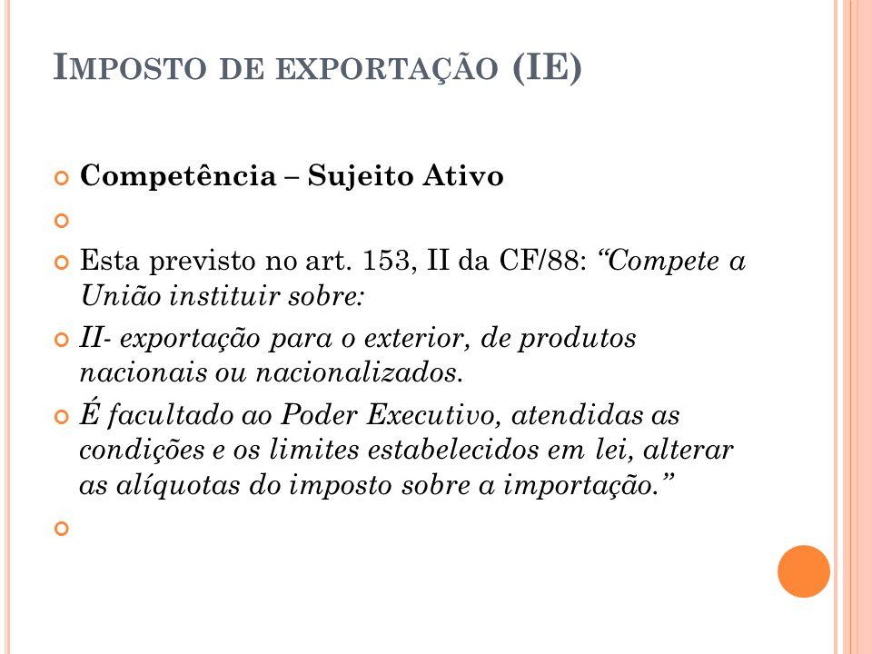 Imposto de exportação (IE)