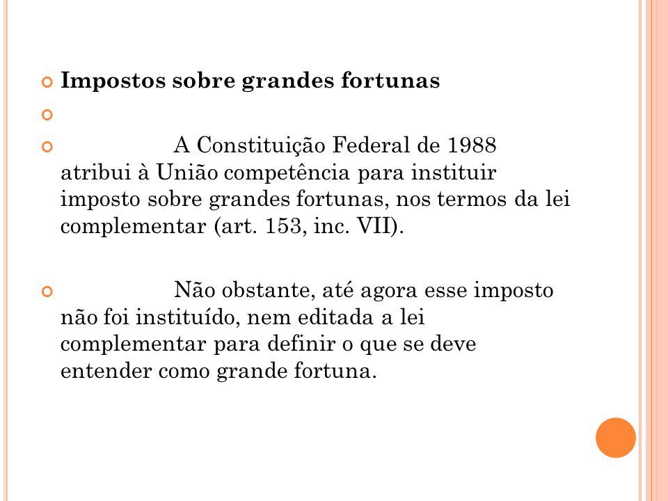 Impostos sobre grandes fortunas
