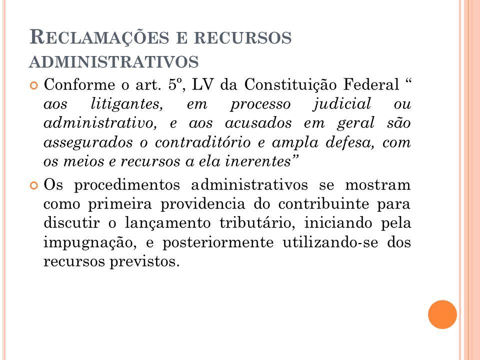 Reclamações e recursos administrativos