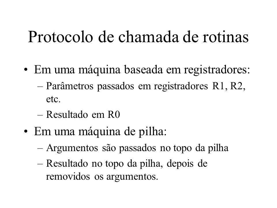 Protocolo de chamada de rotinas