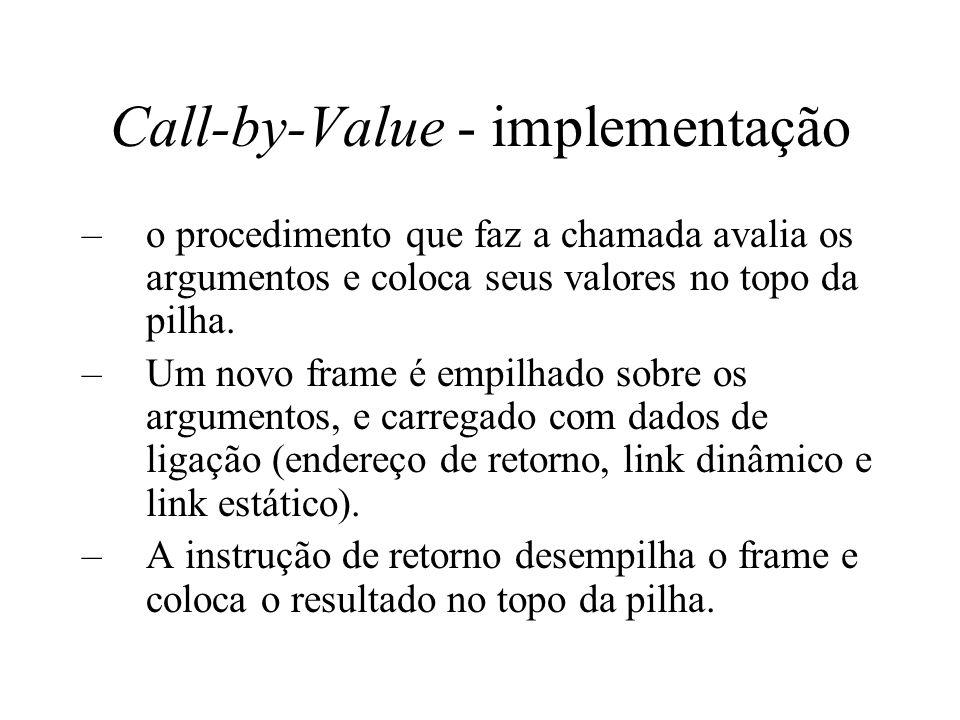 Call-by-Value - implementação