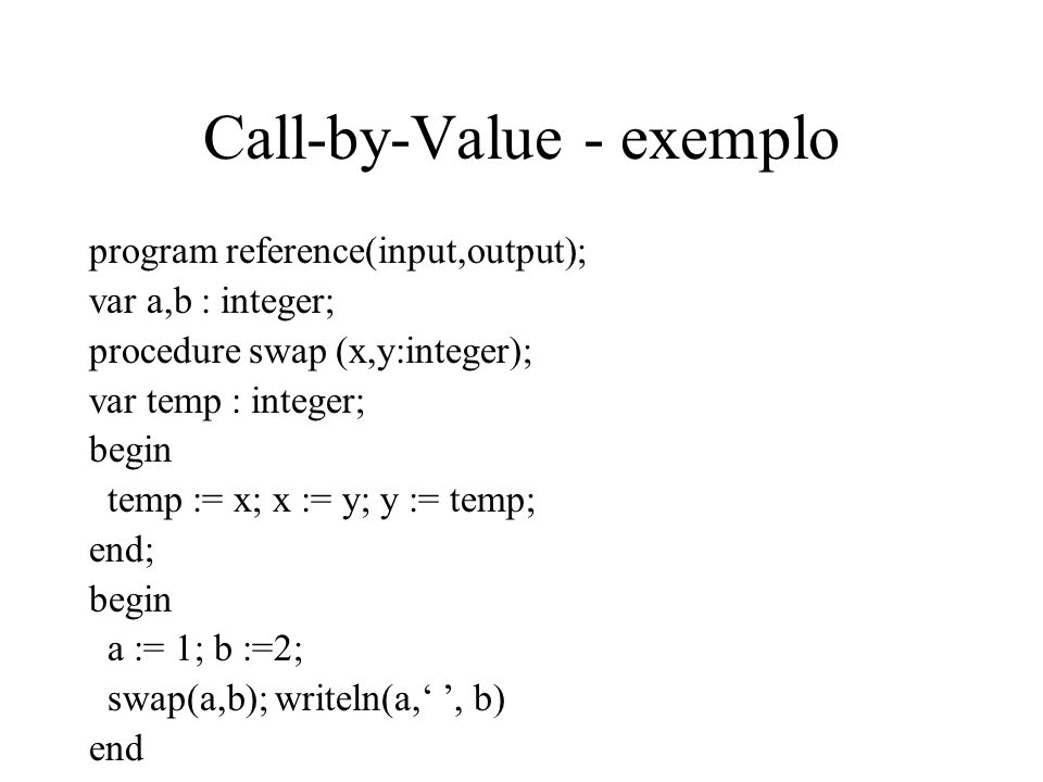 Call-by-Value - exemplo